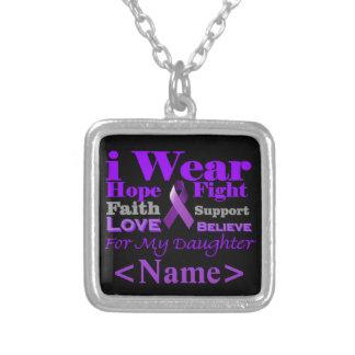 Llevo el collar púrpura del personalizado de la ep