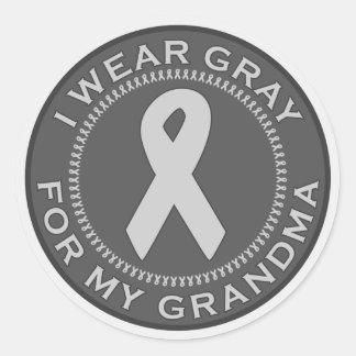 Llevo el gris para mi abuela etiquetas redondas