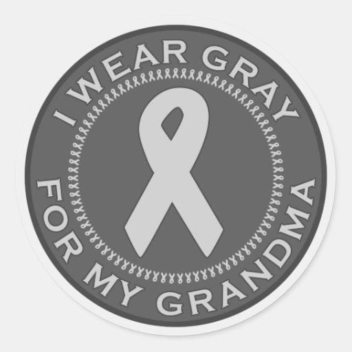 Llevo el gris para mi abuela etiquetas