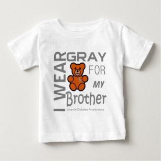 Llevo el gris para mi diabetes juvenil del hermano playeras
