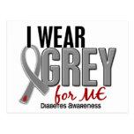 Llevo el gris para MÍ la diabetes 10 Postales