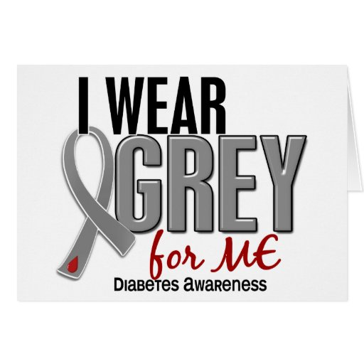 Llevo el gris para MÍ la diabetes 10 Tarjetón