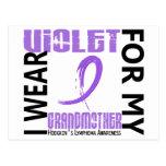 Llevo el linfoma de Hodgkin violeta de la abuela 4 Postales