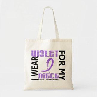 Llevo el linfoma de Hodgkin violeta de la sobrina  Bolsa Tela Barata