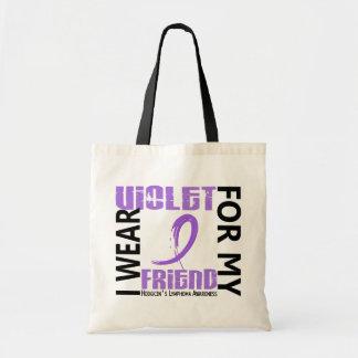 Llevo el linfoma de Hodgkin violeta del amigo 46 Bolsa Tela Barata