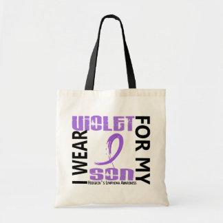 Llevo el linfoma de Hodgkin violeta del hijo 46 Bolsa Tela Barata