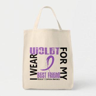 Llevo el linfoma de Hodgkin violeta del mejor amig Bolsa Tela Para La Compra