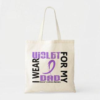 Llevo el linfoma de Hodgkin violeta del papá 46 Bolsa Tela Barata