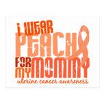 Llevo el melocotón para mi cáncer uterino de la ma postales