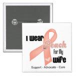 Llevo el melocotón para mi esposa - cáncer uterino pins