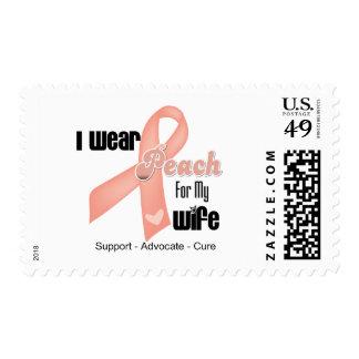 Llevo el melocotón para mi esposa - cáncer uterino sellos