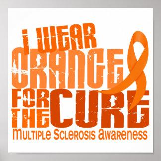 Llevo el naranja para la esclerosis múltiple del m póster