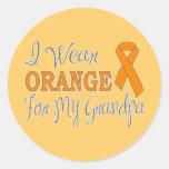 Llevo el naranja para mi abuelo (la cinta pegatina redonda