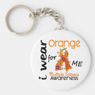 Llevo el naranja para mí esclerosis múltiple de 43 llavero redondo tipo pin