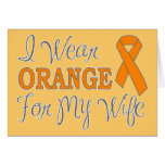 Llevo el naranja para mi esposa (la cinta anaranja felicitación