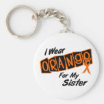 Llevo el naranja para mi HERMANA 8 Llavero Personalizado
