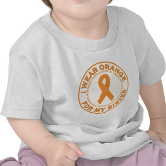 Llevo el naranja para mi hermana camisetas