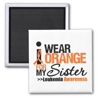 Llevo el naranja para mi hermana imán cuadrado