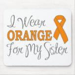Llevo el naranja para mi hermana (la cinta anaranj tapetes de raton