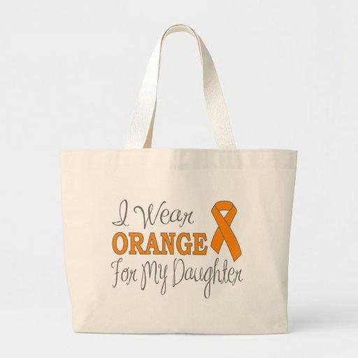 Llevo el naranja para mi hija (la cinta anaranjada bolsa lienzo