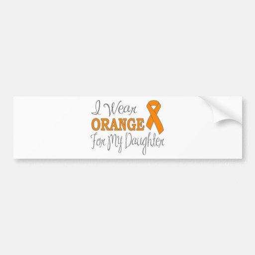 Llevo el naranja para mi hija (la cinta anaranjada pegatina de parachoque