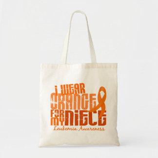 Llevo el naranja para mi leucemia de la sobrina 6, bolsa de mano