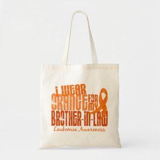 Llevo el naranja para mi leucemia del cuñado 6,4 bolsa tela barata