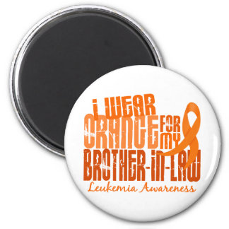 Llevo el naranja para mi leucemia del cuñado 6,4 imán redondo 5 cm