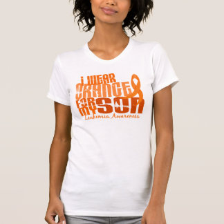 Llevo el naranja para mi leucemia del hijo 6,4 tshirt
