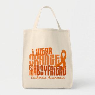 Llevo el naranja para mi leucemia del novio 6,4 bolsas lienzo