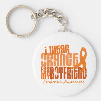 Llevo el naranja para mi leucemia del novio 6,4 llavero redondo tipo pin