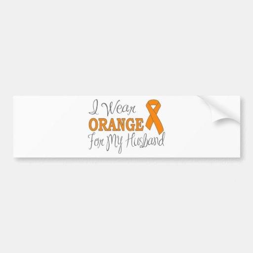 Llevo el naranja para mi marido (la cinta anaranja pegatina de parachoque