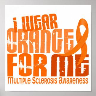 Llevo el naranja para mí ms de la esclerosis múlti póster