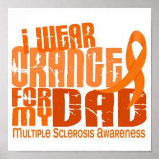 Llevo el naranja para mi ms de la esclerosis múlti póster