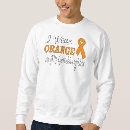Llevo el naranja para mi nieta (la cinta sudadera
