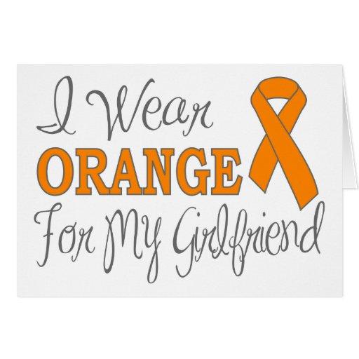 Llevo el naranja para mi novia (la cinta anaranjad tarjetas