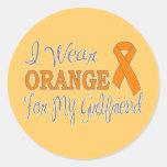 Llevo el naranja para mi novia (la cinta pegatina redonda