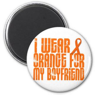 Llevo el naranja para mi novio 16 imán redondo 5 cm