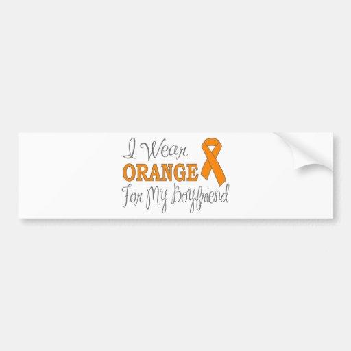 Llevo el naranja para mi novio (la cinta anaranjad pegatina de parachoque