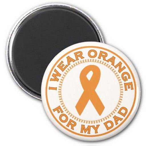 Llevo el naranja para mi papá imán para frigorífico