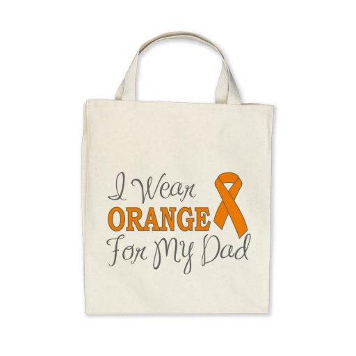 Llevo el naranja para mi papá (la cinta anaranjada bolsas de mano