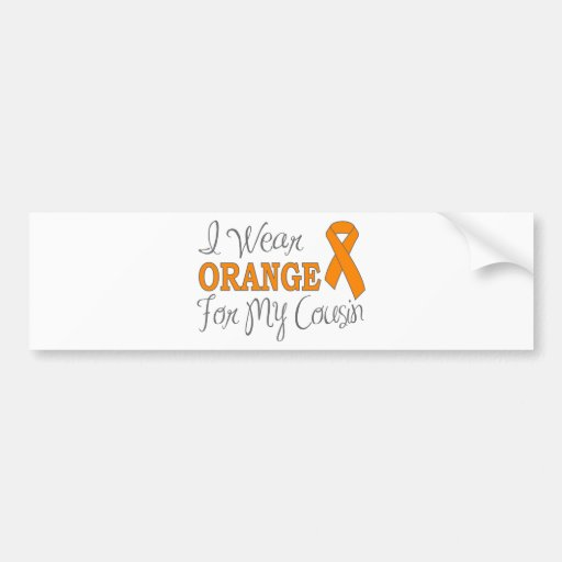 Llevo el naranja para mi primo (la cinta anaranjad etiqueta de parachoque