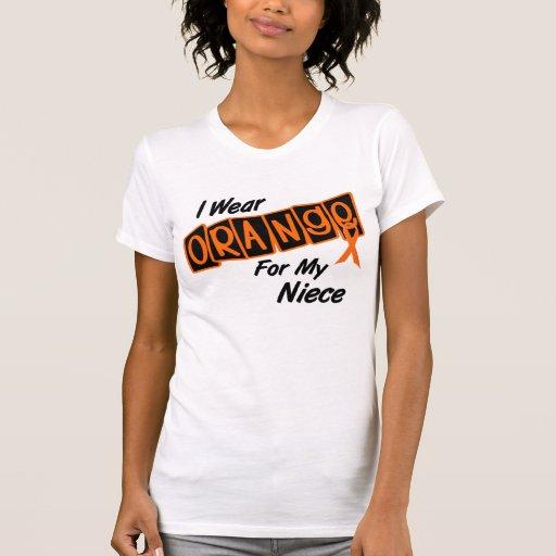 Llevo el naranja para mi sobrina 8 camiseta