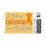 Llevo el naranja para mi sobrino (la cinta anaranj sello