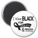 Llevo el negro para alguien el melanoma especial 4 imanes