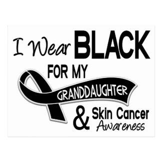 Llevo el negro para mi cáncer de piel de la nieta postales