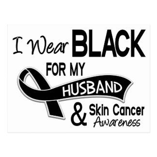 Llevo el negro para mi cáncer de piel del marido tarjeta postal
