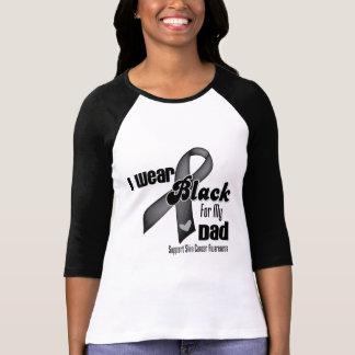 Llevo el negro para mi cáncer de piel del papá camisetas