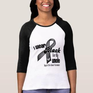 Llevo el negro para mi cáncer del tío piel camisetas