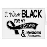 Llevo el negro para mi melanoma de la hermana 42 tarjetón